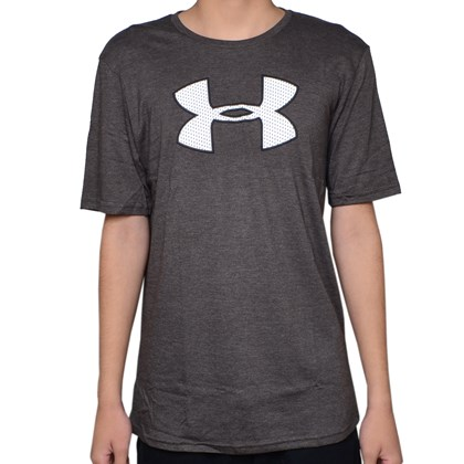Camiseta Masculina Under Armour Cinza e Branca