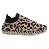 Tênis Feminino Casual Slip On Bottero Animal Print