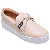 Tênis Feminino Casual Slip On Off Line Nude