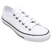 Tênis Masculino Casual Chuck Taylor All Star Branco em Couro