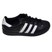 Tênis Superstar Foundation Adidas Preto e Branco